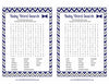 Baby Word Search - PRINTABLE DOWNLOAD - Navy Gray Little Man Baby Shower Game - B1006