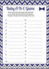 Baby ABC Game - PRINTABLE DOWNLOAD - Navy Gray Little Man Baby Shower Game - B1006