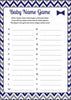 Baby Name Game - PRINTABLE DOWNLOAD - Navy Gray Little Man Baby Shower Game - B1006