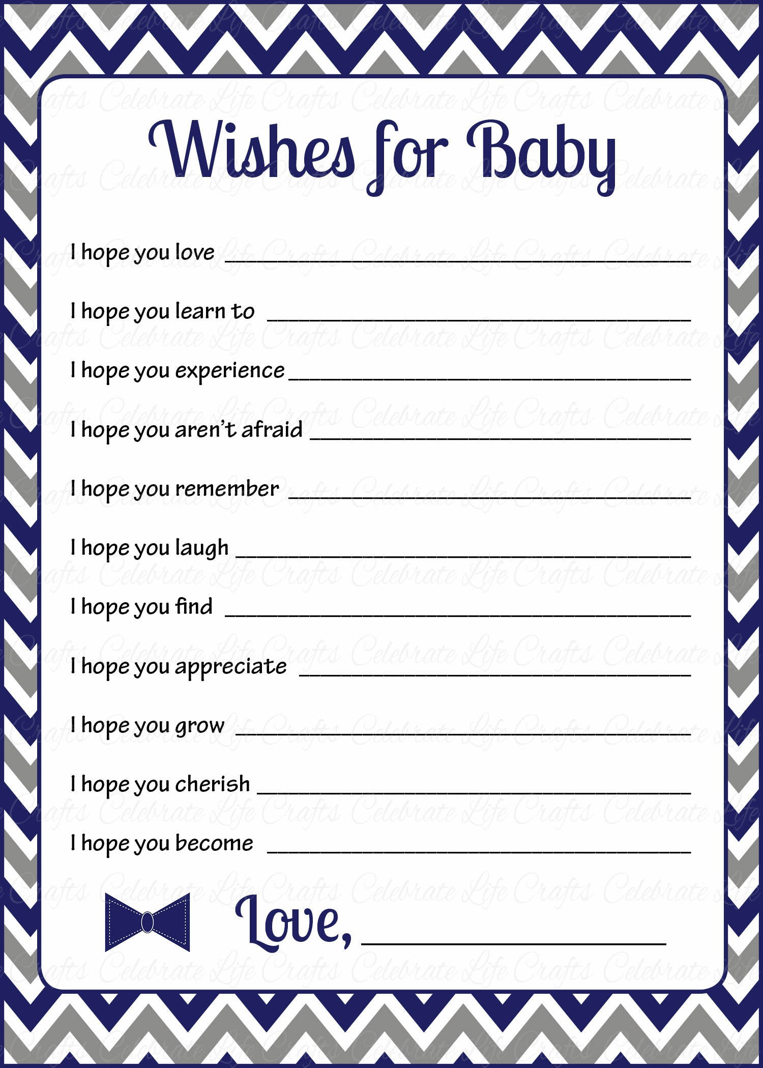 Wishes for baby shower activity little man baby shower theme for wishes for baby cards printable download navy gray little man baby shower activity b1006 kristyandbryce Image collections