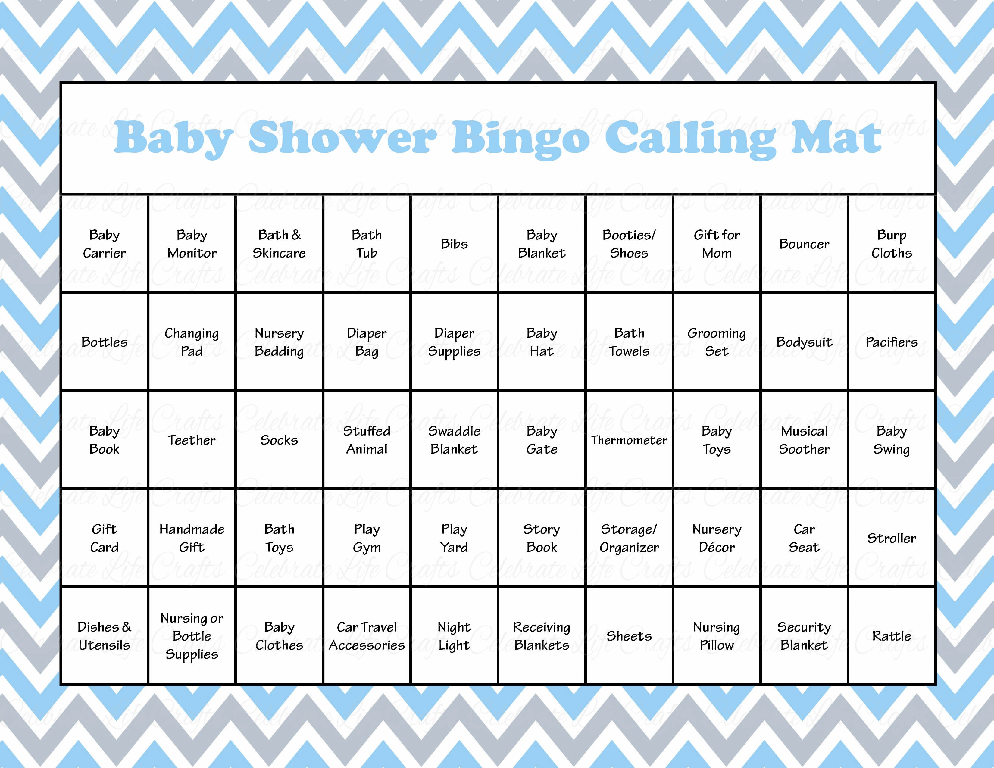 Little Man Baby Shower Game Download For Boy Baby Bingo