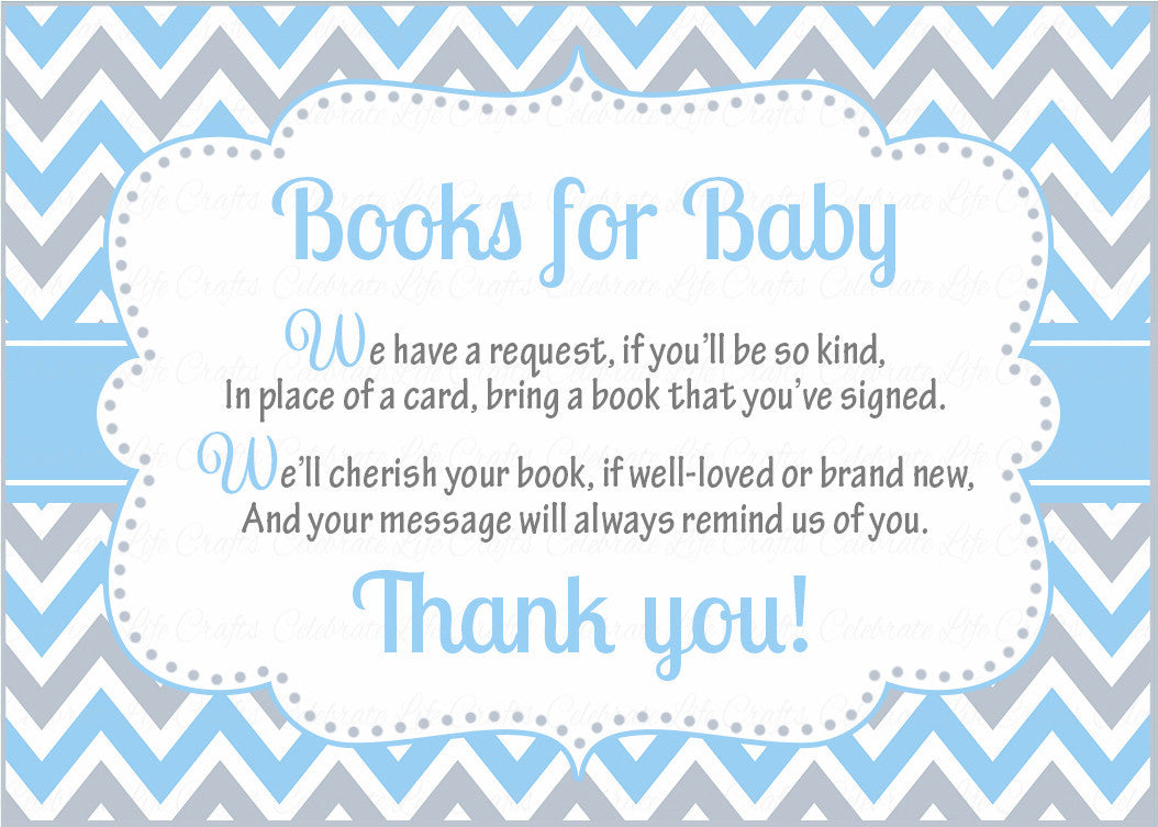 Books for Baby Invitation Inserts for Baby Shower - Little Man Baby ...