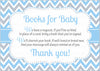 Books for Baby Cards - PRINTABLE DOWNLOAD - Blue Gray Bowtie - Little Man Baby Shower Invitation Inserts - B1008