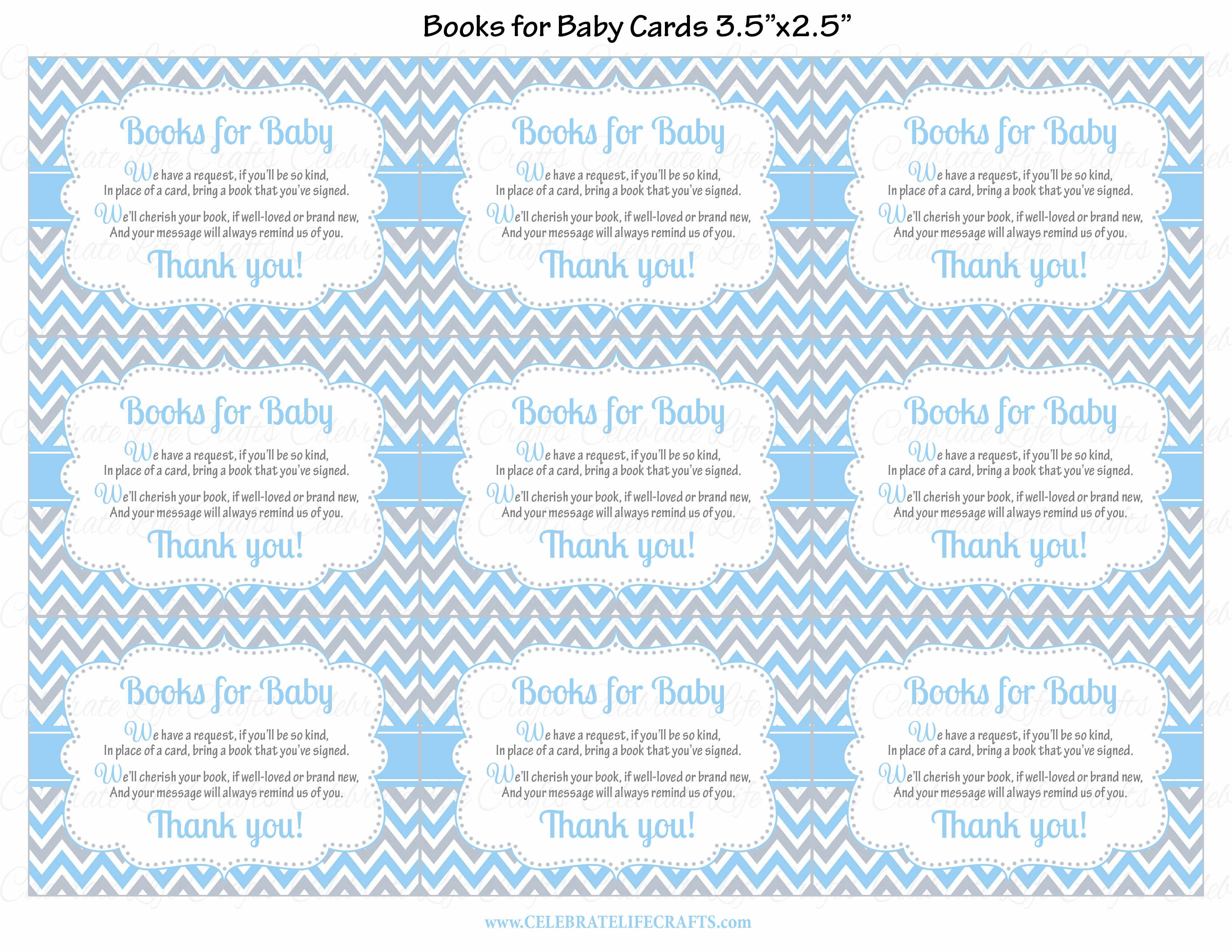 Books for Baby Invitation Inserts for Baby Shower - Little Man ...