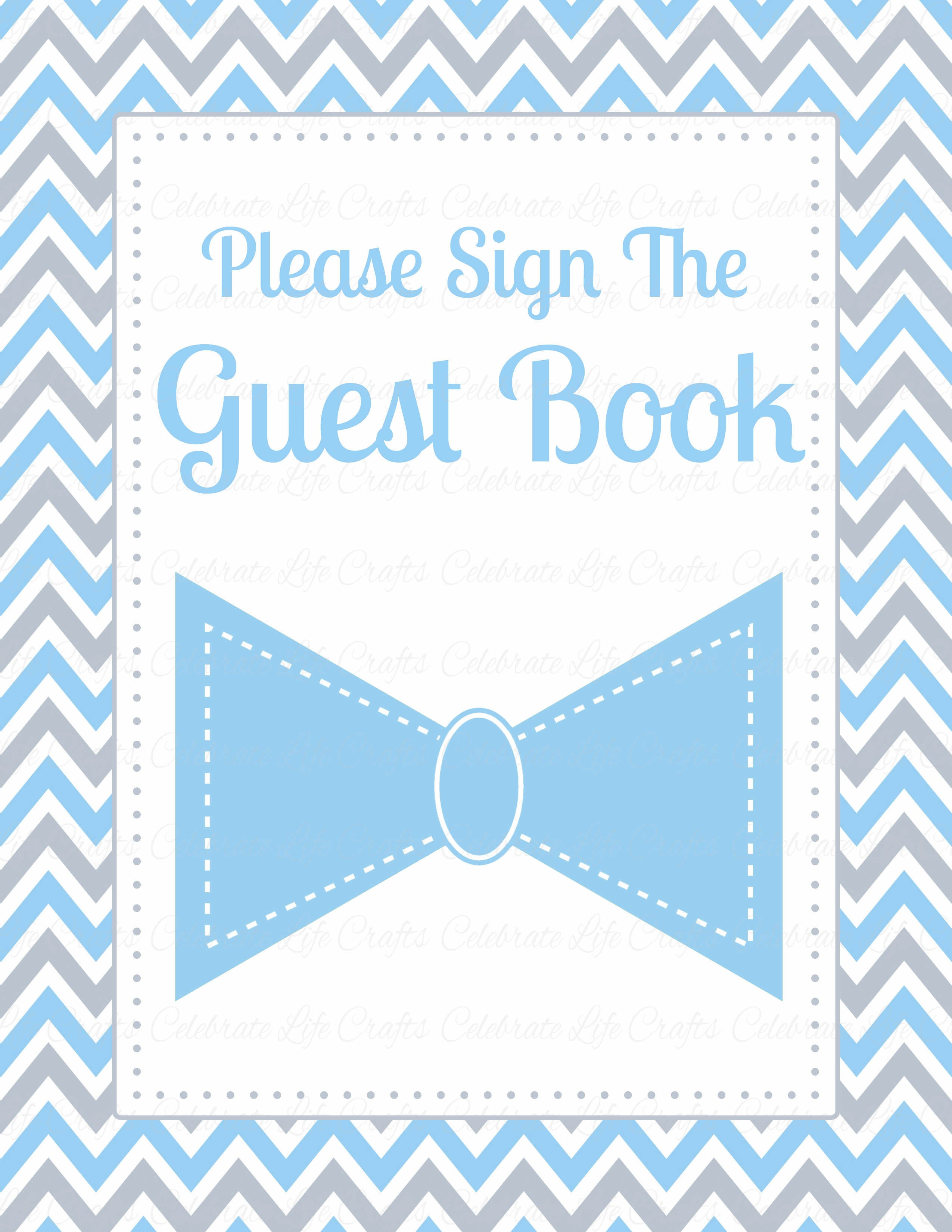 image relating to Printable Baby Shower Banners identify Boy or girl Shower Visitor Listing Preset - PRINTABLE Down load - Blue Grey Bowtie - Small Guy Child Shower Decorations - B1008