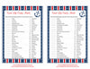Sweet Life Candy Match Game - Printable Download - Navy & Red Baby Shower Game - B15001