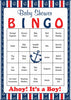 Nautical Baby Bingo Cards - Printable Download - Prefilled - Anchor Baby Shower Game for Boy - Navy & Red