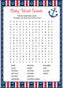 Baby Word Search - Printable Download - Navy & Red Baby Shower Game - B15001