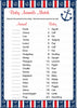 Baby Animals Match Game - Printable Download - Navy & Red Baby Shower Game - B15001