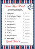 Name That Price Game - Printable Download - Navy & Red Baby Shower Game - B15001