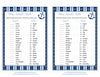 Baby Animals Match Game - Printable Download - Navy & Blue Baby Shower Game - B15002