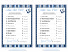 Name That Price Game - Printable Download - Navy & Blue Baby Shower Game - B15002