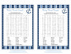 Baby Word Search - Printable Download - Navy & Blue Baby Shower Game - B15002