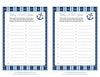 Baby ABC Game - Printable Download - Navy & Blue Baby Shower Game - B15002
