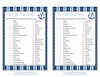 Sweet Life Candy Match Game - Printable Download - Navy & Blue Baby Shower Game - B15002