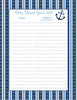 Baby Shower Guest List Set - Printable Download - Navy & Blue Baby Shower Decorations - B15002