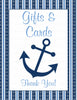 Baby Shower Gift List Set - Printable Download - Navy & Blue Baby Shower Decorations - B15002