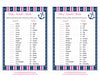 Baby Animals Match Game - Printable Download - Navy & Pink Baby Shower Game - B15004