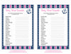 Baby Word Scramble - Printable Download - Navy & Pink Baby Shower Game - B15004