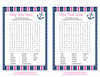 Baby Word Search - Printable Download - Navy & Pink Baby Shower Game - B15004