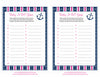 Baby ABC Game - Printable Download - Navy & Pink Baby Shower Game - B15004