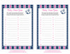Baby Name - Printable Download - Navy & Pink Baby Shower Game - B15004