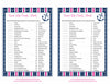 Sweet Life Candy Match Game - Printable Download - Navy & Pink Baby Shower Game - B15004