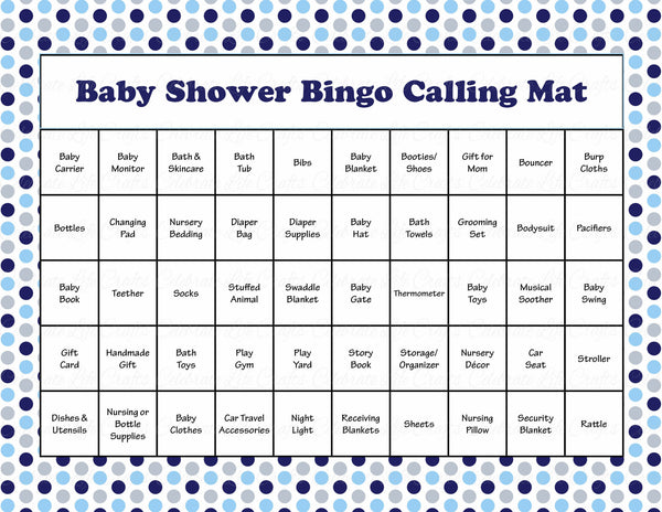 Whale Baby Shower Game Download for Boy | Baby Bingo ...