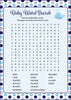 Baby Word Search - Printable Download - Navy Gray Whale Baby Shower Game - B15007