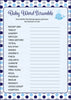 Baby Word Scramble - Printable Download - Navy Gray Whale Baby Shower Game - B15007