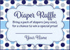 Diaper Raffle Tickets - Printable Download - Navy Gray Whale Baby Shower Invitation Inserts - B15007