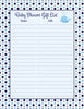 Baby Shower Gift List Set - Printable Download - Navy Gray Whale Baby Shower Decorations - B15007