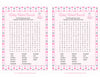Baby Word Search - Printable Download - Pink Gray Whale Baby Shower Game - B15008