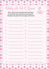 Baby ABC Game - Printable Download - Pink Gray Whale Baby Shower Game - B15008