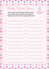 Baby Name - Printable Download - Pink Gray Whale Baby Shower Game - B15008