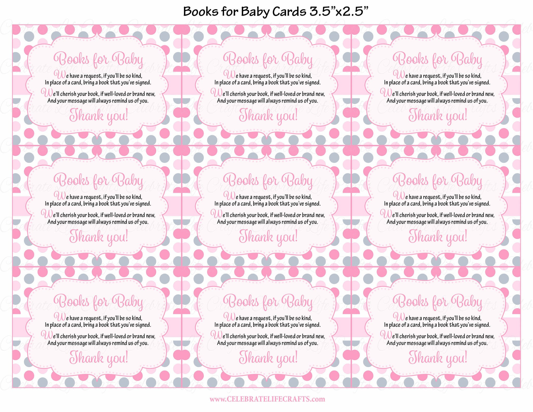 ... Books For Baby Cards   Printable Download   Pink Gray Whale Baby Shower  Invitation Inserts