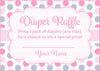 Diaper Raffle Tickets - Printable Download - Pink Gray Whale Baby Shower Invitation Inserts - B15008