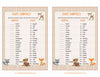 Baby Animals Match Game - PRINTABLE DOWNLOAD - Forest Animals Woodland Baby Shower Game - B18002
