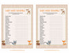Baby Word Scramble - PRINTABLE DOWNLOAD - Forest Animals Woodland Baby Shower Game - B18002