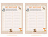 Baby Name - PRINTABLE DOWNLOAD - Forest Animals Woodland Baby Shower Game - B18002
