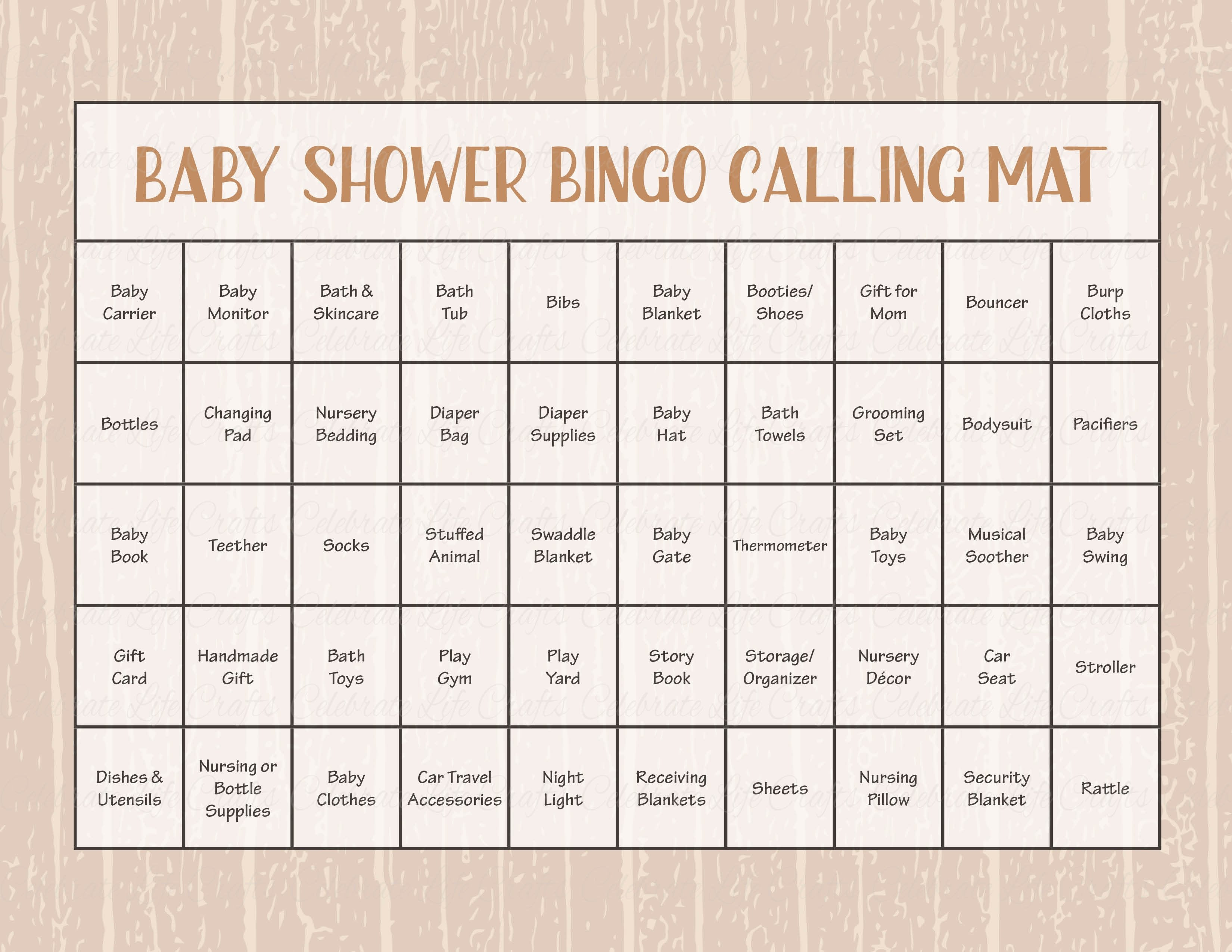 image about Printable Bingo Calling Cards identified as Forest Pets Woodland Little one Shower Recreation Obtain Little one