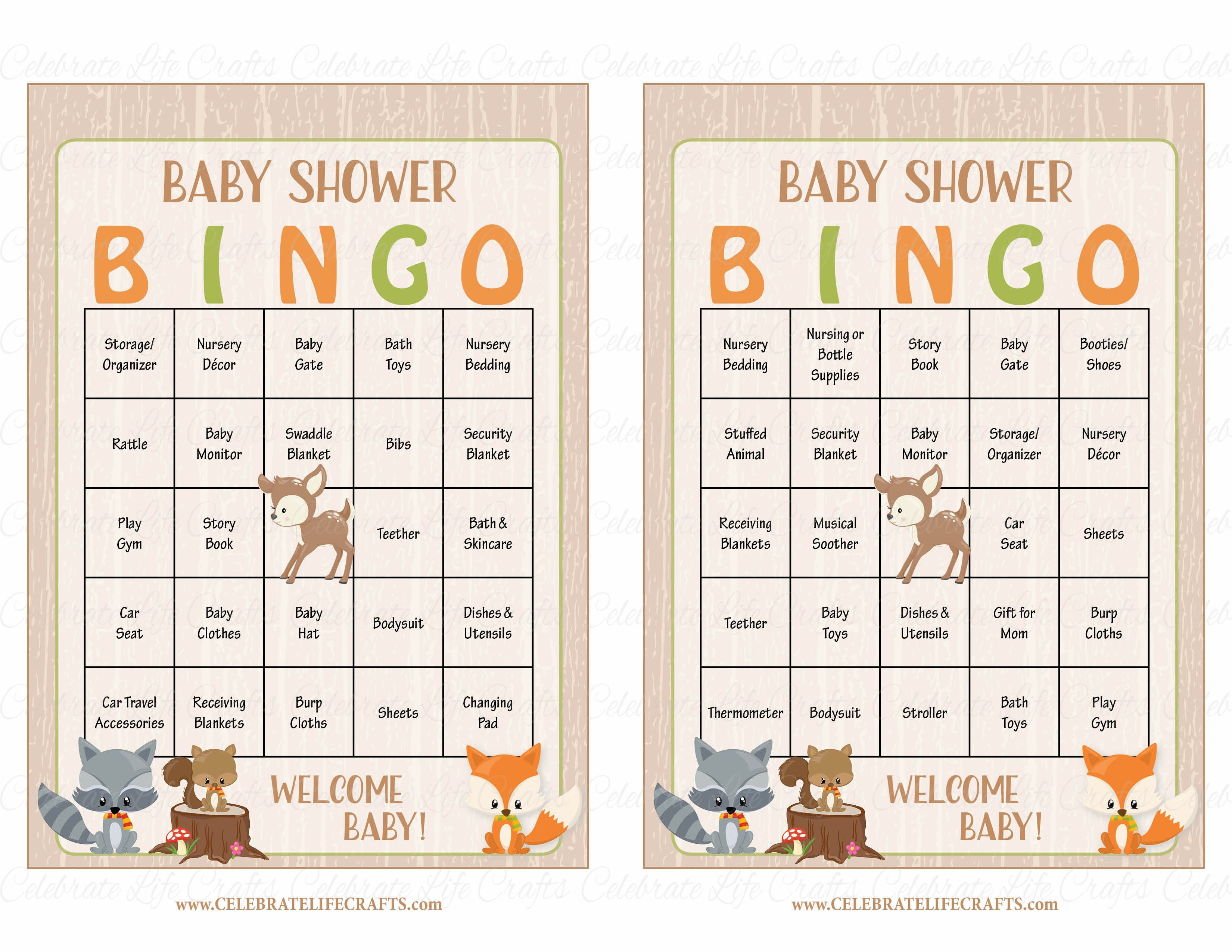 picture regarding Animal Bingo Printable identified as Forest Pets Woodland Kid Shower Match Down load Little one