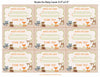 Books for Baby Cards - PRINTABLE DOWNLOAD - Forest Animals Woodland Baby Shower Invitation Inserts - B18002