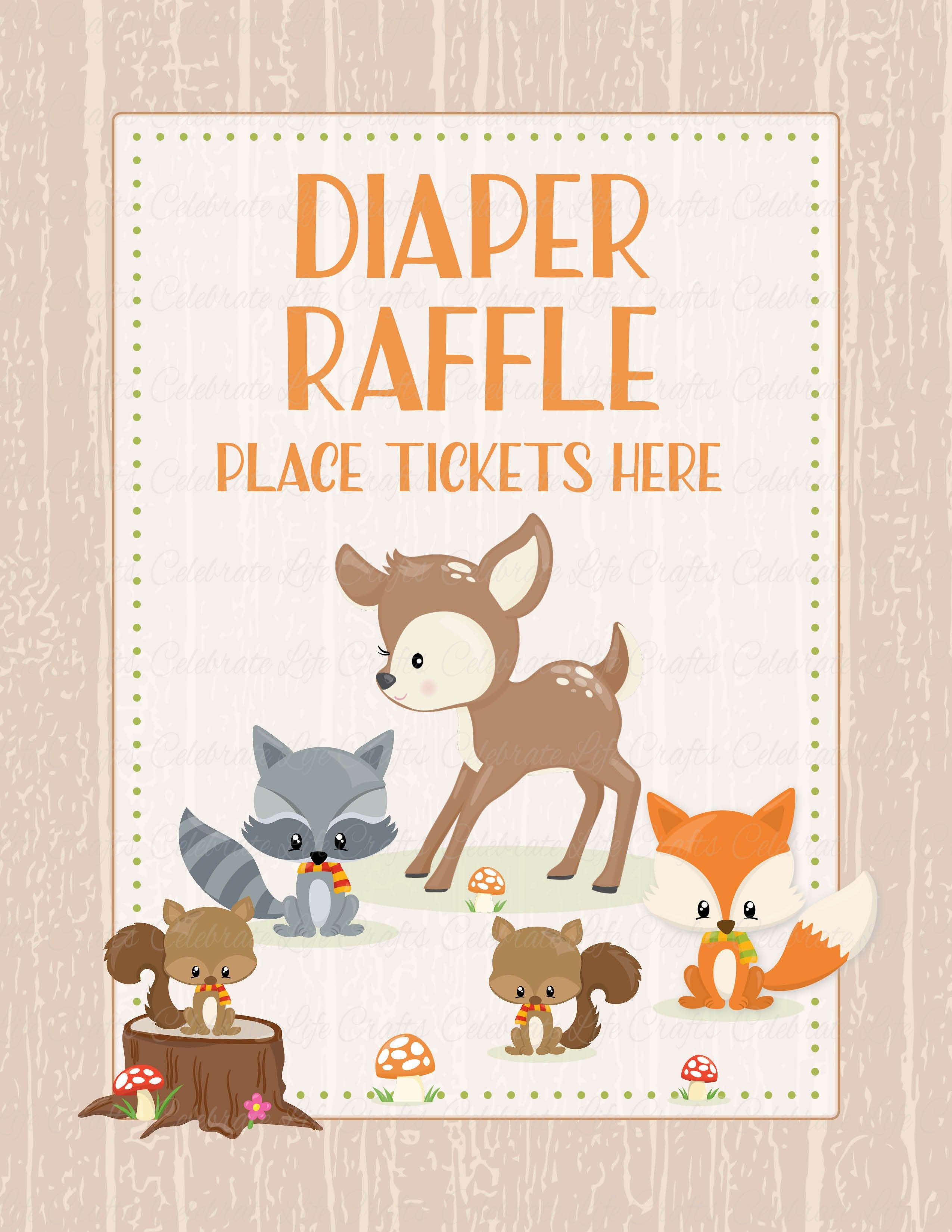photo relating to Late Night Diaper Messages Free Printable titled Woodland Boy or girl Shower Woodland Pets Rejoice Lifetime Crafts