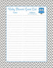 Baby Shower Guest List Set - Printable Download - Blue & Gray Baby Shower Decorations - B2001