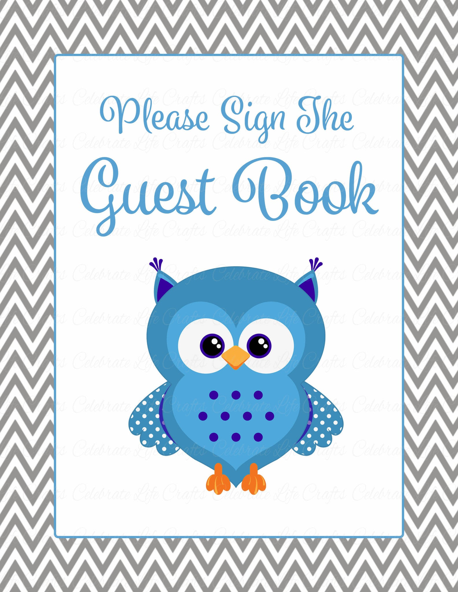 Baby shower guest list set owl baby shower theme for for Baby shower decoration set
