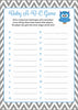 Baby ABC Game - Printable Download - Blue & Gray Baby Shower Game - B2001