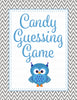 Candy Guessing Game - Printable Download - Blue & Gray Baby Shower Game - B2001
