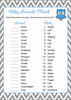 Baby Animals Match Game - Printable Download - Blue & Gray Baby Shower Game - B2001