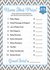 Name That Price Game - Printable Download - Blue & Gray Baby Shower Game - B2001